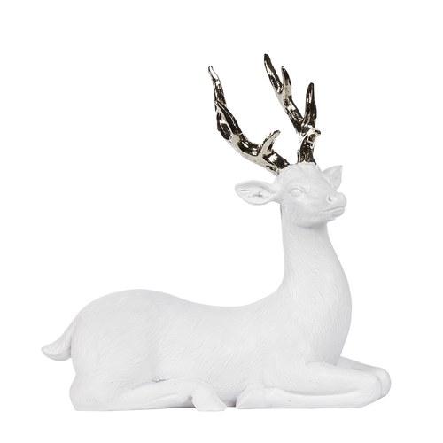 丹麥LeneBjerre 雪國麋鹿聖誕擺飾(坐姿)