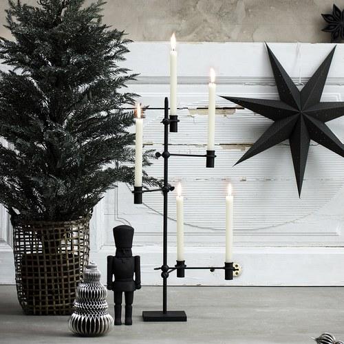 丹麥LeneBjerre 聖誕晚宴燭台(霧黑)