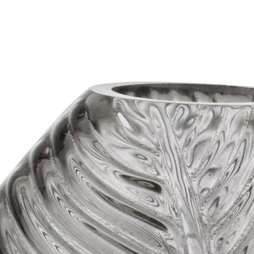 丹麥LeneBjerre 立體葉紋玻璃花器 (高13公分)