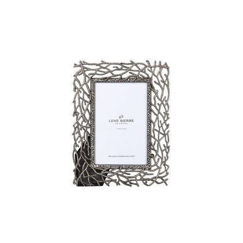 丹麥LeneBjerre 鏤空枝狀復古銀相框 (高22公分)