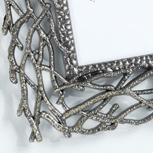 丹麥LeneBjerre 鏤空枝狀復古銀相框 (高24公分)