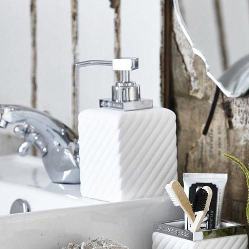 丹麥LeneBjerre 現代簡約斜紋洗手乳罐 (白)