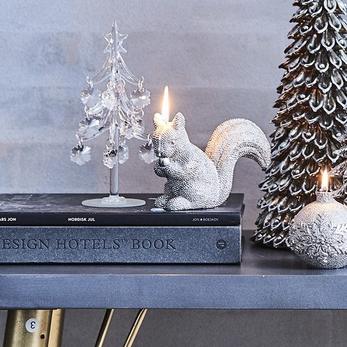 丹麥LeneBjerre 歡樂聖誕玻璃樹擺飾