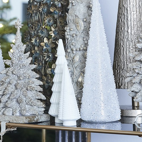 丹麥LeneBjerre 溫馨耶誕小樹立體擺飾 (白)