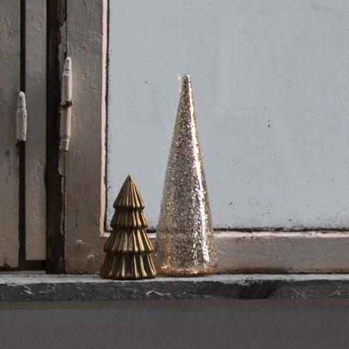 丹麥LeneBjerre 金色耶誕小樹玻璃擺飾
