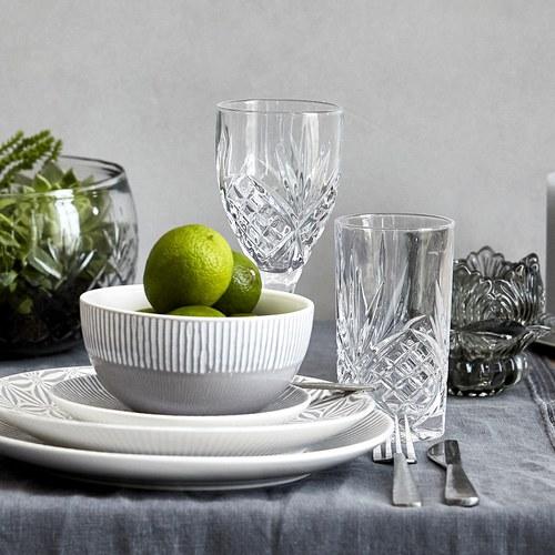 丹麥LeneBjerre 透明雕花玻璃紅酒杯 (300毫升)