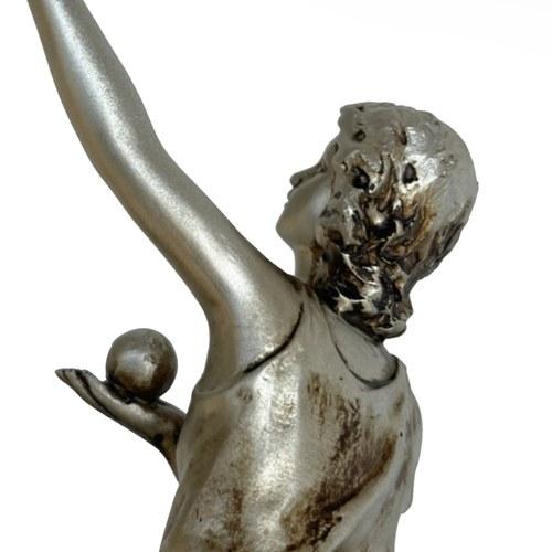 丹麥LeneBjerre 與球共舞少女藝術擺飾
