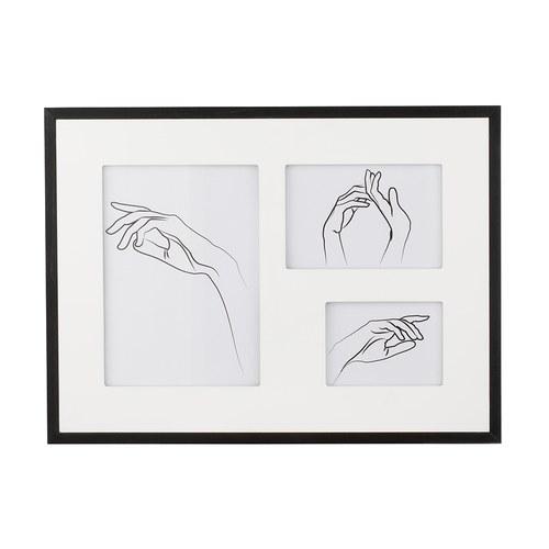 丹麥Lene Bjerre 手繪手勢三格相框掛畫