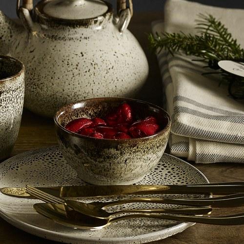 丹麥 Nordal 古樸流釉陶碗