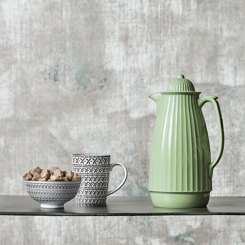 丹麥Nordal多立克柱式保溫咖啡壺(綠)x高29公分