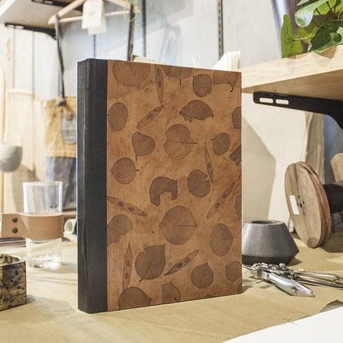 丹麥 Nordal 葉紋皮製筆記本 (A4)