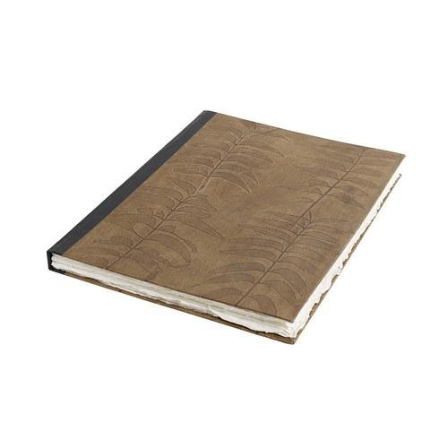 丹麥 Nordal 葉紋皮製筆記本 (B4)