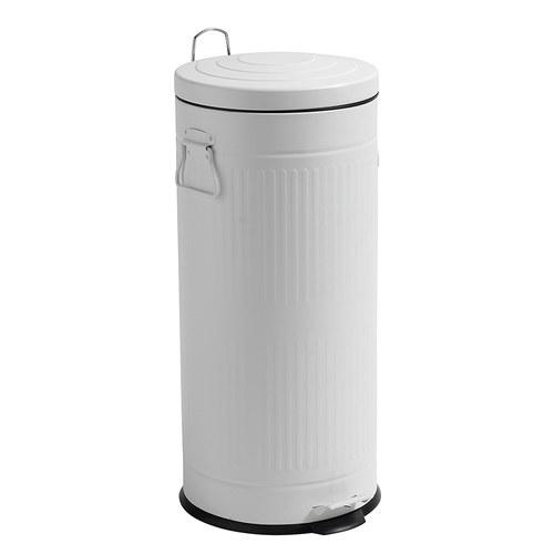 丹麥Nordal經典垃圾桶(白、30公升)