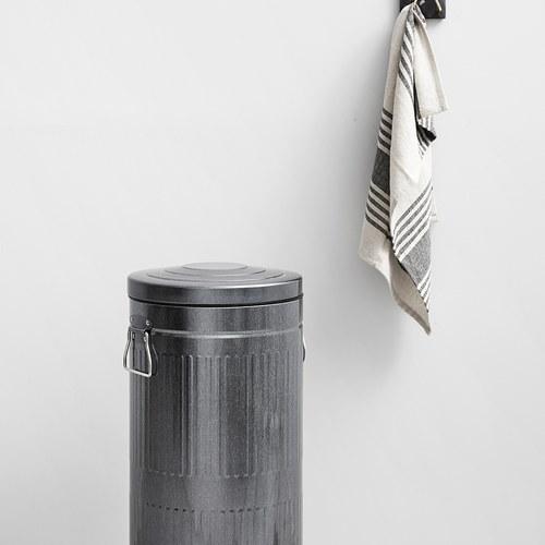 丹麥 Nordal 經典垃圾桶 (銀、30公升)