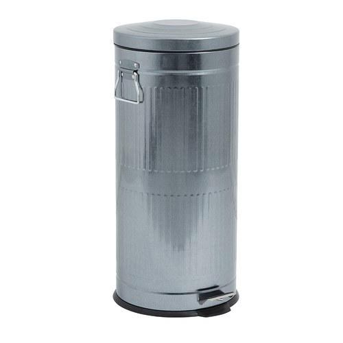 丹麥Nordal經典垃圾桶(銀、30公升)