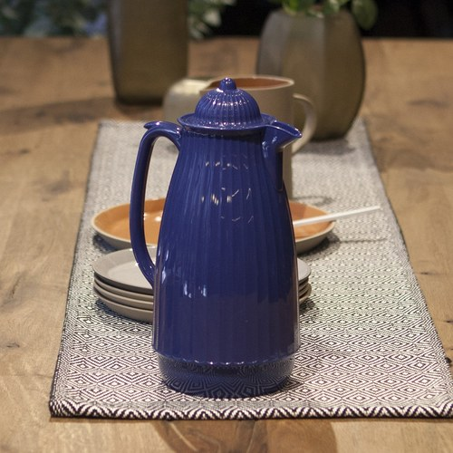 丹麥Nordal 多立克柱式保溫咖啡壺 (藍)