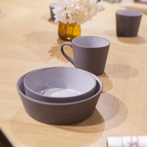 丹麥Nordal 仿石陶瓷馬克杯 (黑)