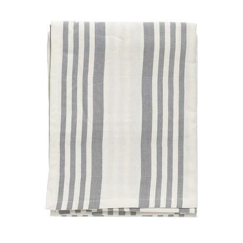 丹麥Nordal 純棉灰白線條桌巾