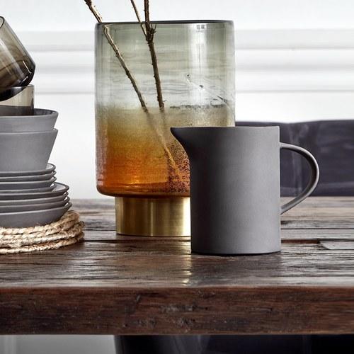 丹麥Nordal仿石陶瓷水壺(黑)x高14公分