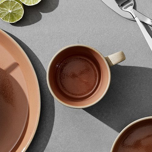丹麥Nordal 仿石陶瓷馬克杯 (橘)