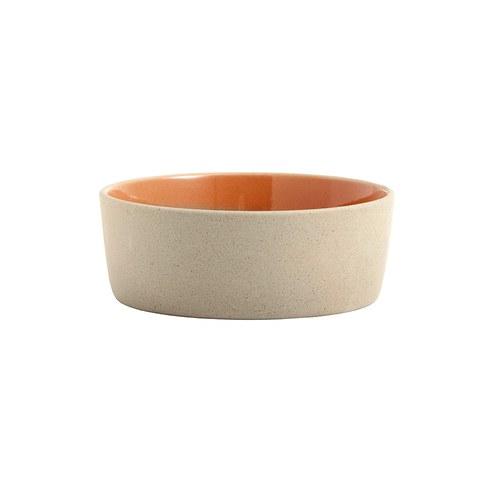 丹麥Nordal 仿石陶瓷餐碗 (橘、直徑16公分)