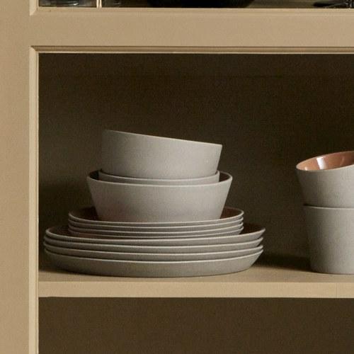 丹麥Nordal 仿石陶瓷餐碗 (橘、直徑18公分)