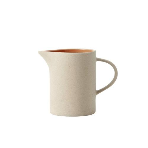 丹麥Nordal仿石陶瓷水壺(橘)x高14公分