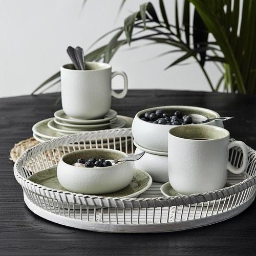 丹麥Nordal 磨砂白陶瓷馬克杯 (綠)