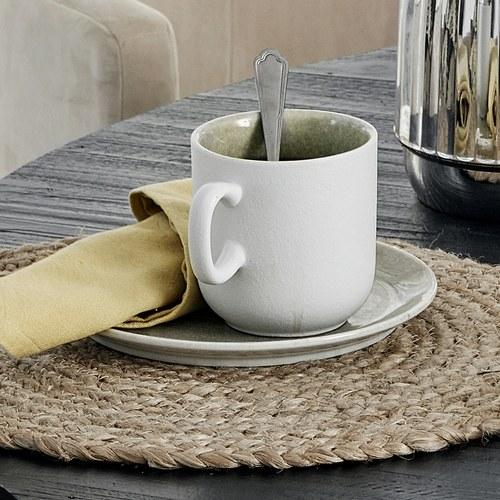 丹麥Nordal 磨砂白陶瓷餐盤 (綠、直徑19公分)
