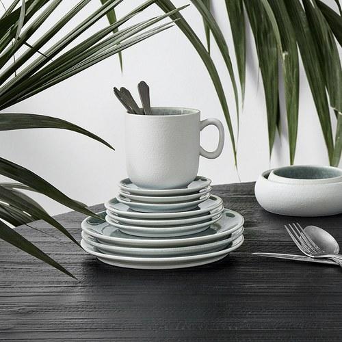 丹麥Nordal 磨砂白陶瓷馬克杯 (藍)