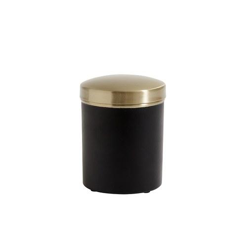 丹麥Nordal 質感黑金收納罐
