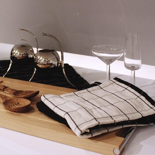 丹麥Nordal 簡約線條茶巾 2pcs