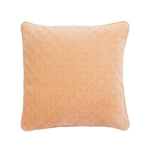 丹麥Nordal 銀杏葉刺繡靠枕 (橘)