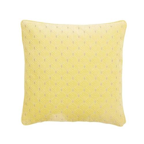 丹麥Nordal 銀杏葉刺繡靠枕 (黃)
