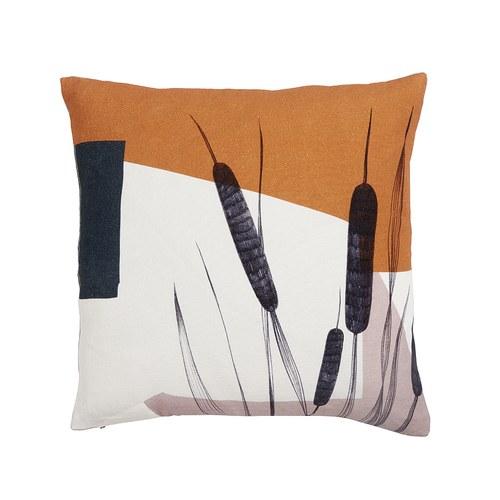 丹麥Nordal 蘆葦草圖紋靠枕 (橘)