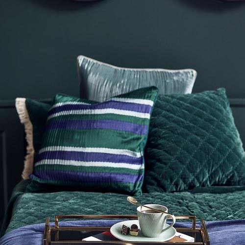 丹麥Nordal 典雅摺紋靠枕 (綠)