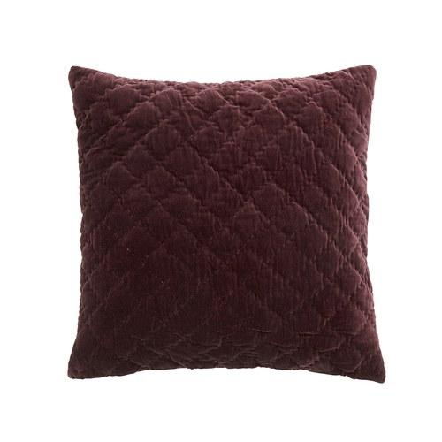 丹麥Nordal 經典格菱紋靠枕 (酒紅)