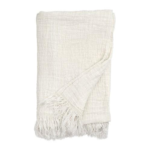 丹麥Nordal 質樸亞麻披毯 (白)