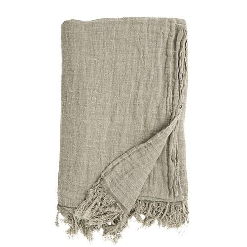 丹麥Nordal 質樸亞麻披毯 (米)