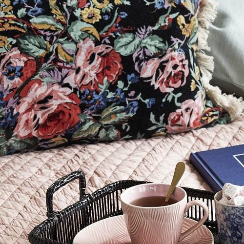 丹麥Nordal 古典花園天鵝絨長形靠枕