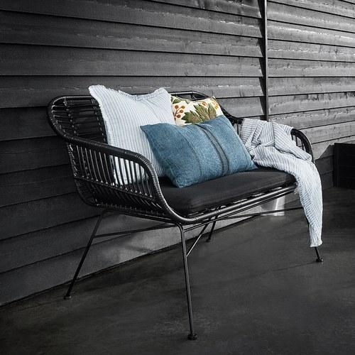 丹麥Nordal 簡約線條長形靠枕 (藍)