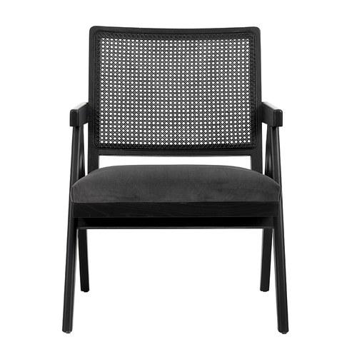 丹麥Nordal 黑色編織靠背扶手椅