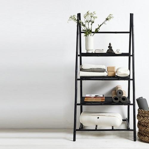 丹麥Nordal 竹製黑色置物層架