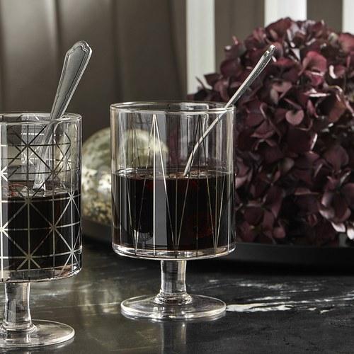 丹麥Nordal 派對線條玻璃杯(折線)