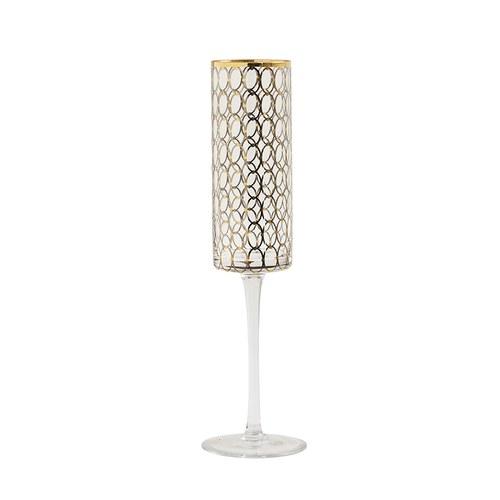 丹麥Nordal 派對金圈飾面香檳杯