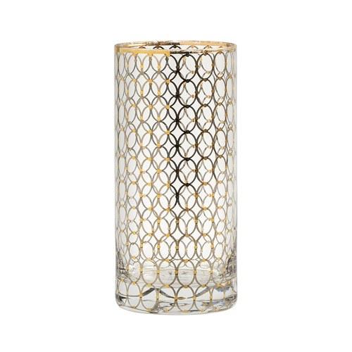 丹麥Nordal 派對金圈飾面玻璃水杯