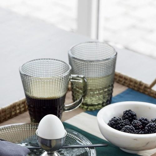 丹麥Nordal 馬賽克霧感玻璃水杯(草綠)