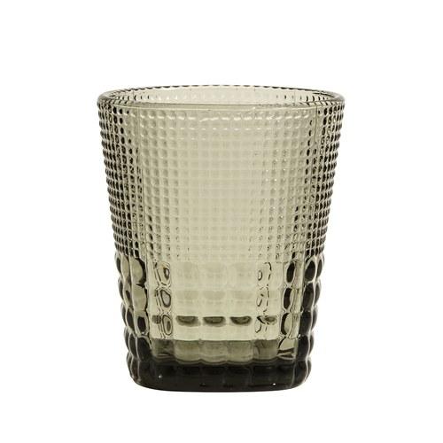 丹麥Nordal 馬賽克霧感玻璃水杯(煙灰)