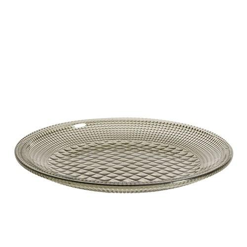 丹麥Nordal 馬賽克霧感玻璃餐盤(煙灰)