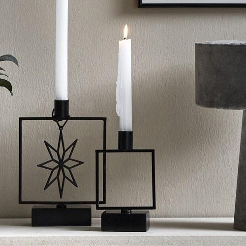 丹麥Nordal 方形裝飾大理石燭台